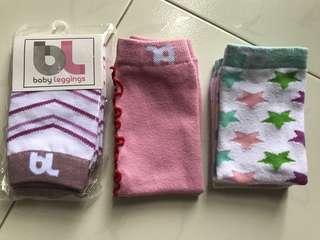 3 pair of BL Baby Leggings