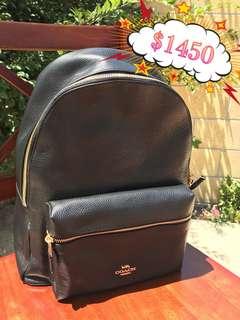 Coach Black Backpack 黑色背包背囊