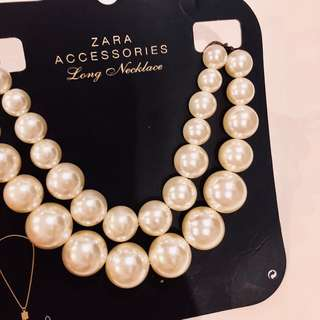 Zara huge pearl necklace
