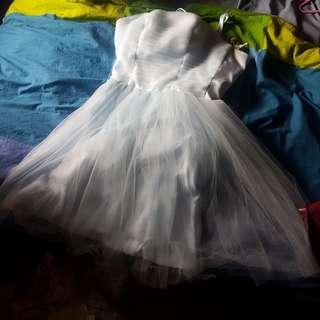 Bridesmaid Blue Tube Dress