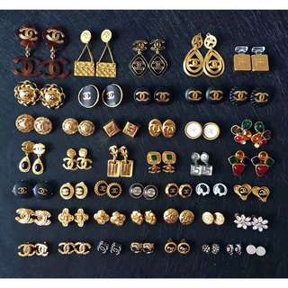 Chanel vintage ear clips