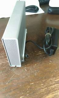 Aluminium External storage with power adapter