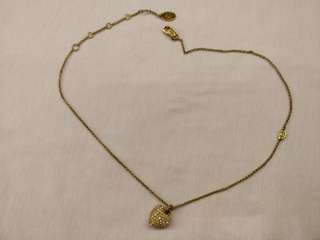 Juicy Couture Heart Necklace Gold