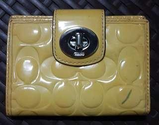 Coach Yellow Bifold Wallet
