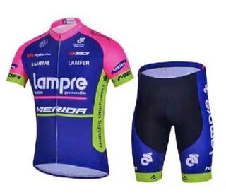 Brand New Merida (Lampre) Cycling Set Jersey with Gel Padding