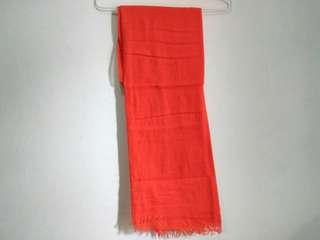 🌸50rb dapat 4🌼 Orange scarf / pashmina
