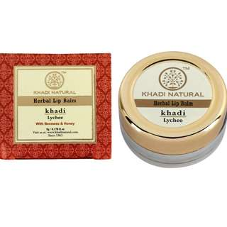 KHADI NATURAL Lychee Lip Balm - With Beeswax & Honey