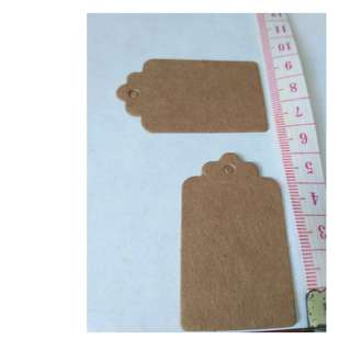 Brown Kraft paper labels tag gift card mini notes