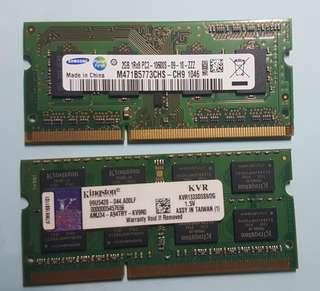 SODIMM DDR3 1333MHz 2×2GB RAM for laptop