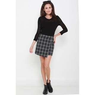 Tartan skirt - Black