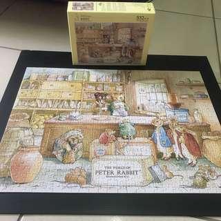 拼圖 puzzle 彼得兔 兔兔 兔子 霧面 紙拼 532片 500片 動物 雷諾瓦 Peter rabbit