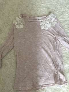 New Look Lace Knit Sweater
