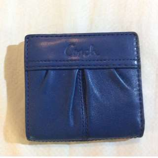 Excellent Condition Coach Soho Leather Pleated Small Bi-Fold Wallet