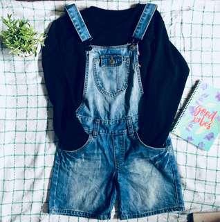 Black crop top w/ jumper shorts