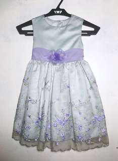 Baby blue and lavender dress