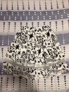 Printed Black and White Skirt