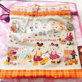 🚚 日本Disney sea束口袋2015萬聖節版