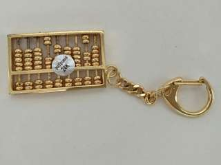 24K Gold Plated Abacus Keychain