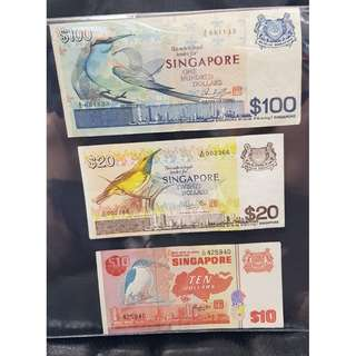 SINGAPORE BIRD SERIES NOTES (Issued in the years 1976 to 1984)