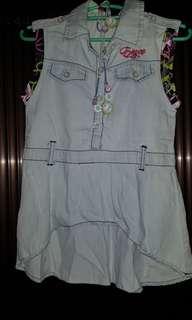 Denim long blouse/dress