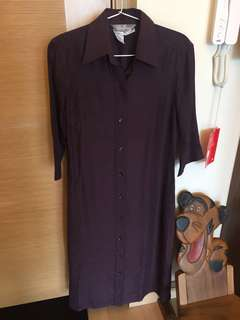 Max Mara purple dress