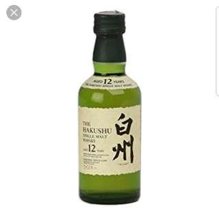 日本威士忌 白州12 酒版50ml