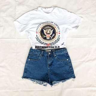 Classic Mid-Rise Denim Shorts