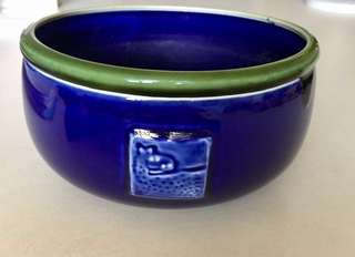 Skillful Hand Crafted Pottery Bowl Pot Blue Green