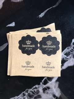 Handmade For You Crown Stickers