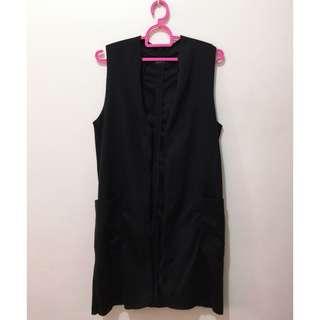 Topshop Long Black Vest