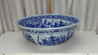 Large heavy porcelain bowl