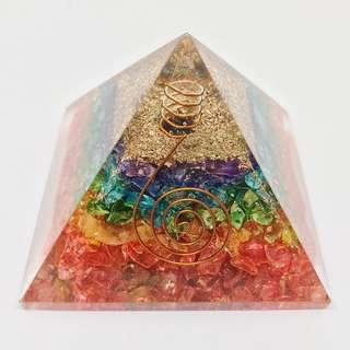 Rainbow Onyx Orgone Pyramid
