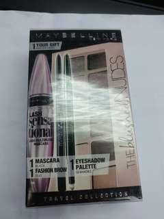 🚚 Maybelline 美寶蓮 眼影盤+眉筆+睫毛液+眼線筆