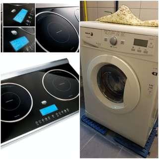 Induction cooker washing machine