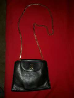 Paloma Picasso Gold Chain Shoulder Sling Bag Authentic
