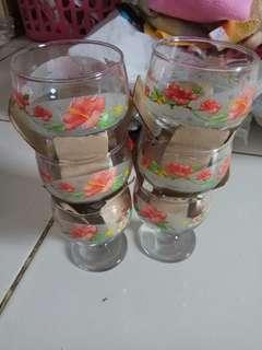 Gelas set/gelas beling/gelas bunga