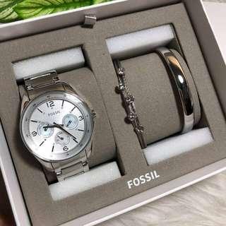 Fossil women gift set watch
