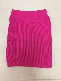 Pencil bodycon skirt knit pink fanta
