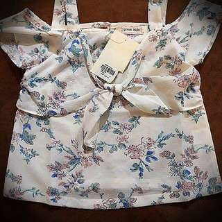 Authentic GREAT KIDS cold shoulder Chiffon Top