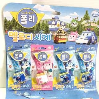 🚚 「韓國帶回」正版 波力救援小英雄 音樂數字手錶 安寶