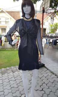 Formal dress color dark blue (2 pieces)
