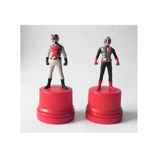 Masked Rider Figures - Bottle Cap with  Stamp