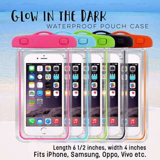 Glow in the Dark waterproof pouch case for iphone oppo vivo samsung