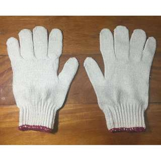 Cotton Knitted Gloves (offwhite)