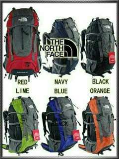Bag Pack Travel**THE NORTHFACE ** **HIGH QUALITY*REPLICA** **GOOD FOR HIKING** **GOOD FOR TRAVEL** **with RAIN COVER** **with BACK PLATE SUPPORT** SIZE:28inch