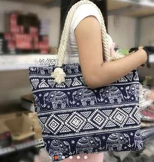 Shoulder bag canvas type