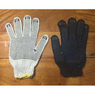Cotton Knitted Gloves (dotted)