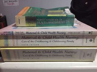 Nursing books: Maternal & Child and Health Assessment