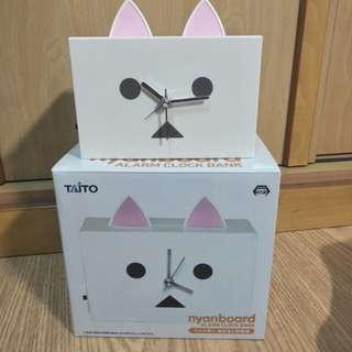 【日本景品】阿愣 貓咪 鬧鐘 存錢筒