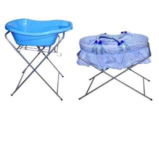 Babylove 2 in 1 bath stand & Moses basket